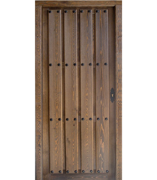 Puertas exterior r sticas puertas calvo for Puerta madera rustica