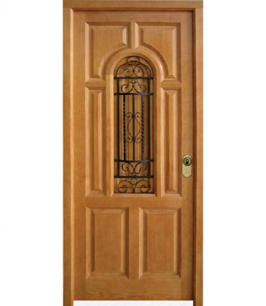 Puerta de exterior modelo e 2 puertas calvo for Puertas de madera maciza exterior