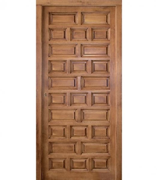 Puerta exterior castellana modelo e 4 puertas calvo for Puerta castellana pino