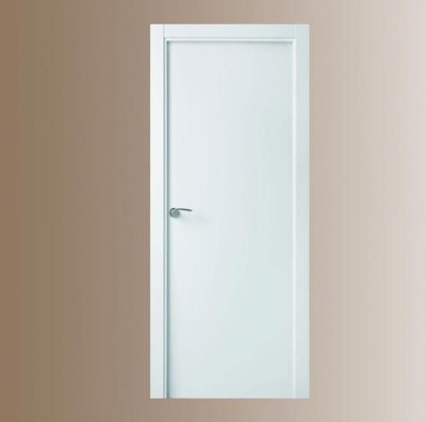 Puerta blanca modelo 7000 puertas calvo for Puertas semi macizas blancas
