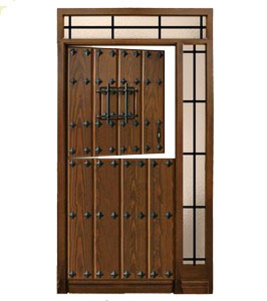 Puerta rustica partida de tablas modelo 02 puertas calvo for Puerta madera rustica