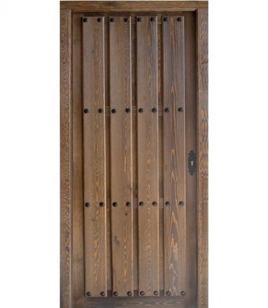 Puerta r stica de tablas ciega modelo r 12 puertas calvo for Puerta rustica de madera