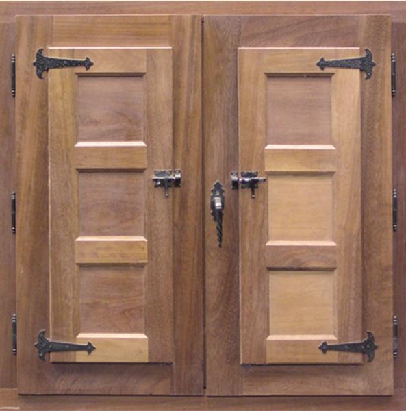 Ventana rustica mod 6 puertas calvo for Ventanas de madera rusticas precio