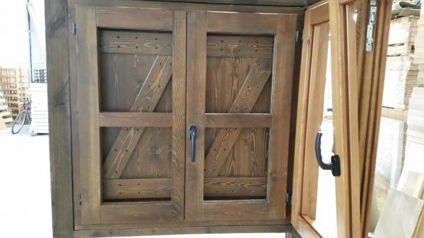 Ventana de madera de perfil europeo tipo z puertas calvo for Ventanas de madera rusticas precio