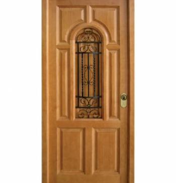 Puertas exteriores de madera puertas calvo for Puertas metalicas exterior