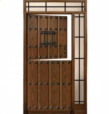 Puerta r stica de tablas ciega modelo r 12 puertas calvo for Aislar puerta entrada
