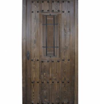 Puertas exteriores de madera puertas calvo for Modelos de puertas de madera para exteriores