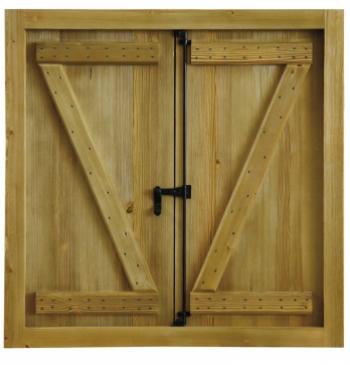 Ventana rustica mod 11 puertas calvo for Ventanas en madera para interiores